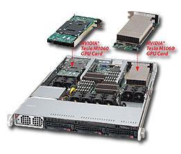 Servidor 1U con 3/4 GPUs