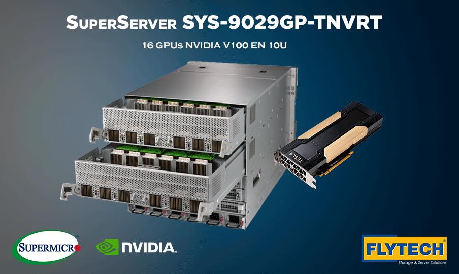 Nuevo SuperServer de Supermicro: hasta 16 GPUs en 10U