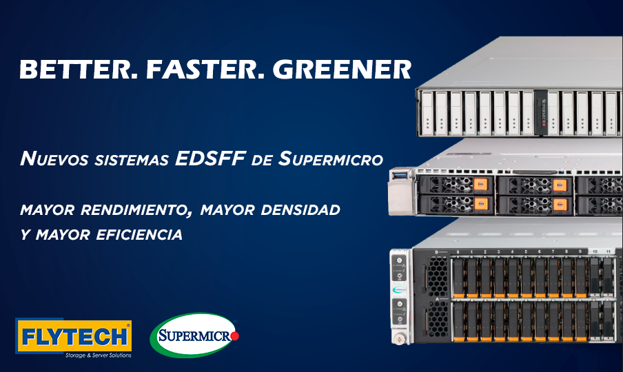 Nuevos Sistemas All-Flash NVMe de Supermicro para EDSFF